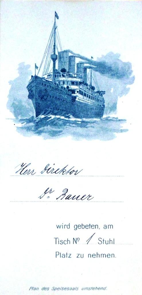 Einladung für Gustav Bauer zur Probefahrt der Deutschland