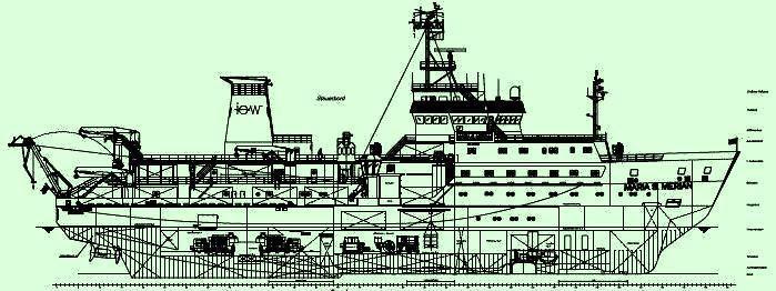 "Abbildung 3: Forschungsschiff ""Maria S. Merian"" (Quelle Briese)"