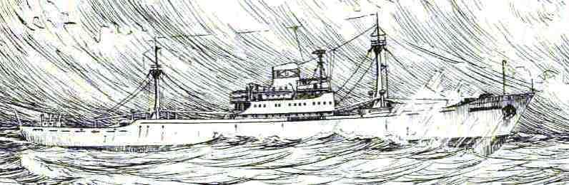 BREMERHAVEN,  Kühlschiff der UNION-Reederei (Zeichnng Sachse)