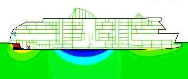 Abbildung 14: Vertikalbiegeschwingung Druckeigenform 2 Knoten, (Quelle Herrnring)