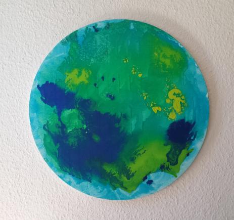 Abstract World 50 cm, Öl