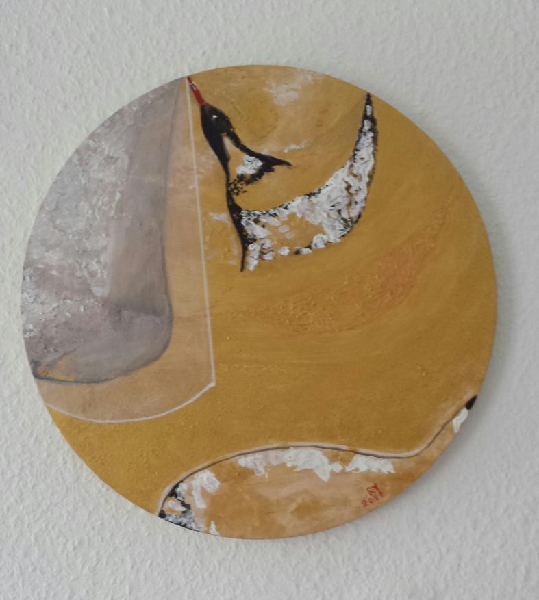 Seelenvogel 40 cm. Acryl