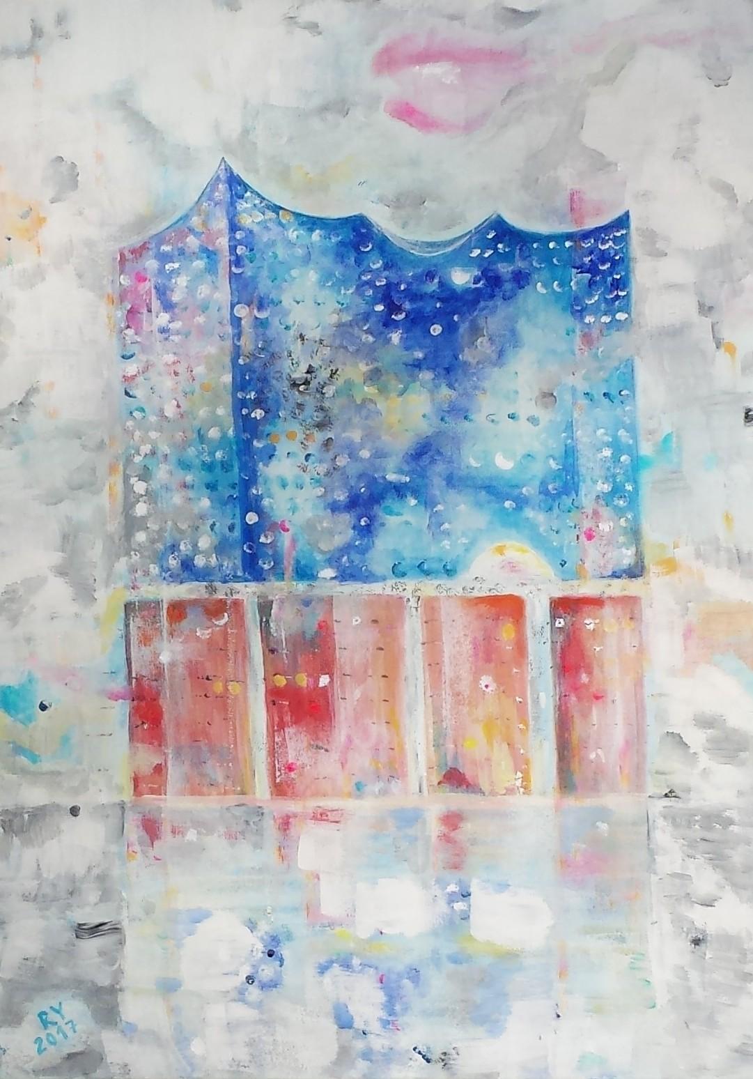 Elbphilharmonie, 50x70, Acryl auf Leinwand