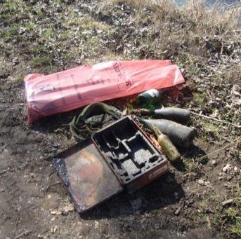 geborgener Müll aus dem Krebsbach, Foto: NABU/Jennifer Zängle