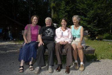 Die vier Gründerinnen der NAJU-Gruppe: Friederike Strauß, Gisela Friederich, Bettina Saier, Ingrid Müller