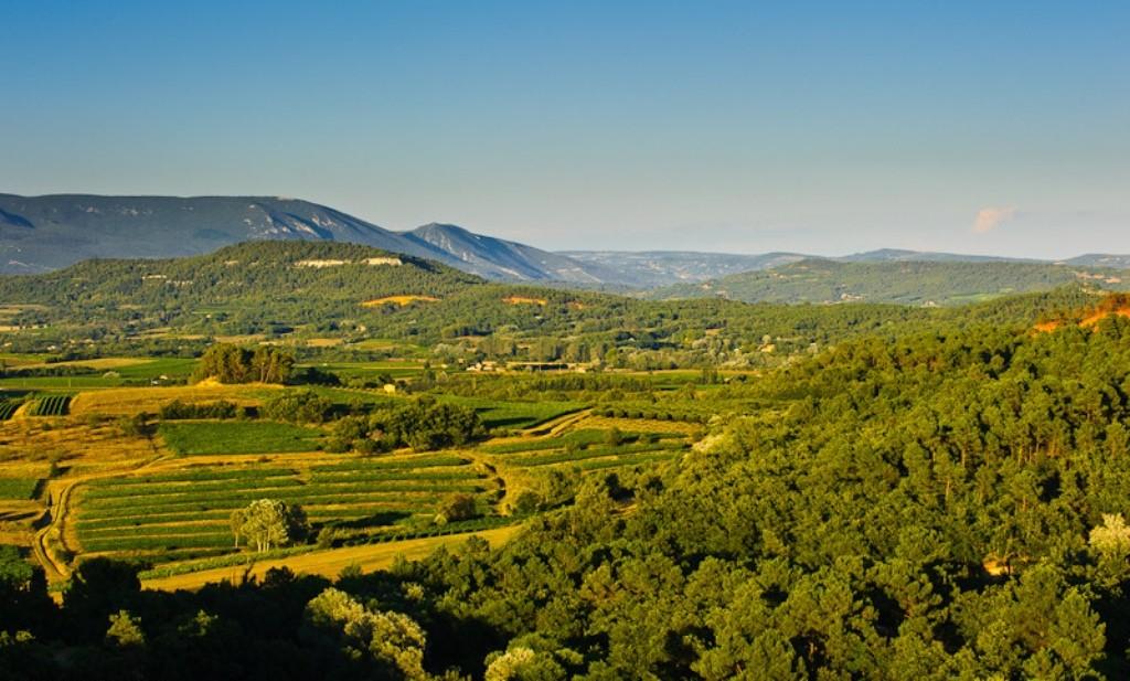 Панорамный вид долины Люберона