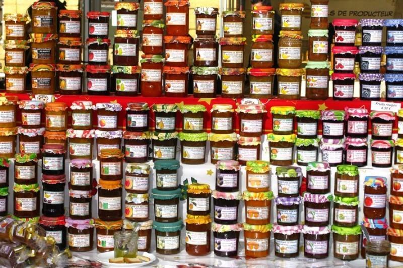 Джемы и варенья на провансальском рынке