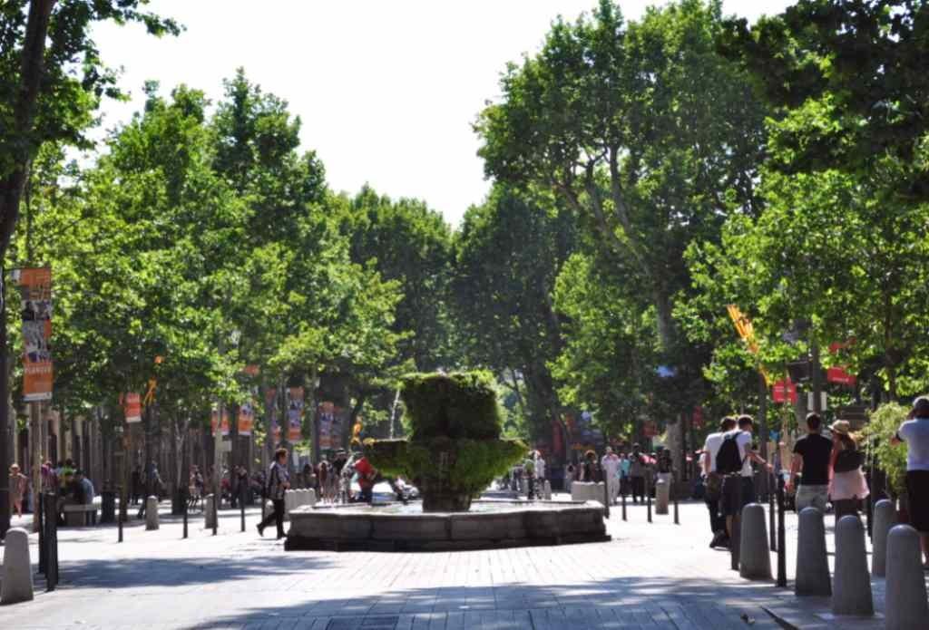 Девятиструйный фонтан Экс-ан-Прованс