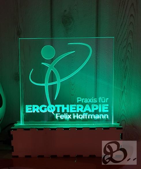 Werbeschild mit LED