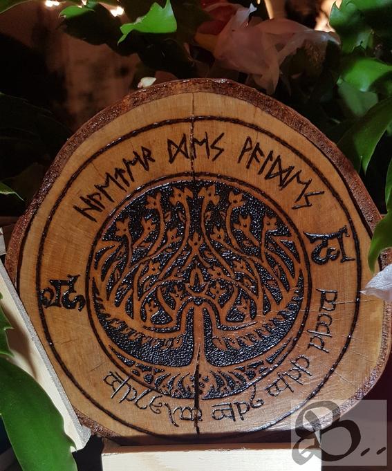 Brandmalerei - Lebensbaum der Elfen
