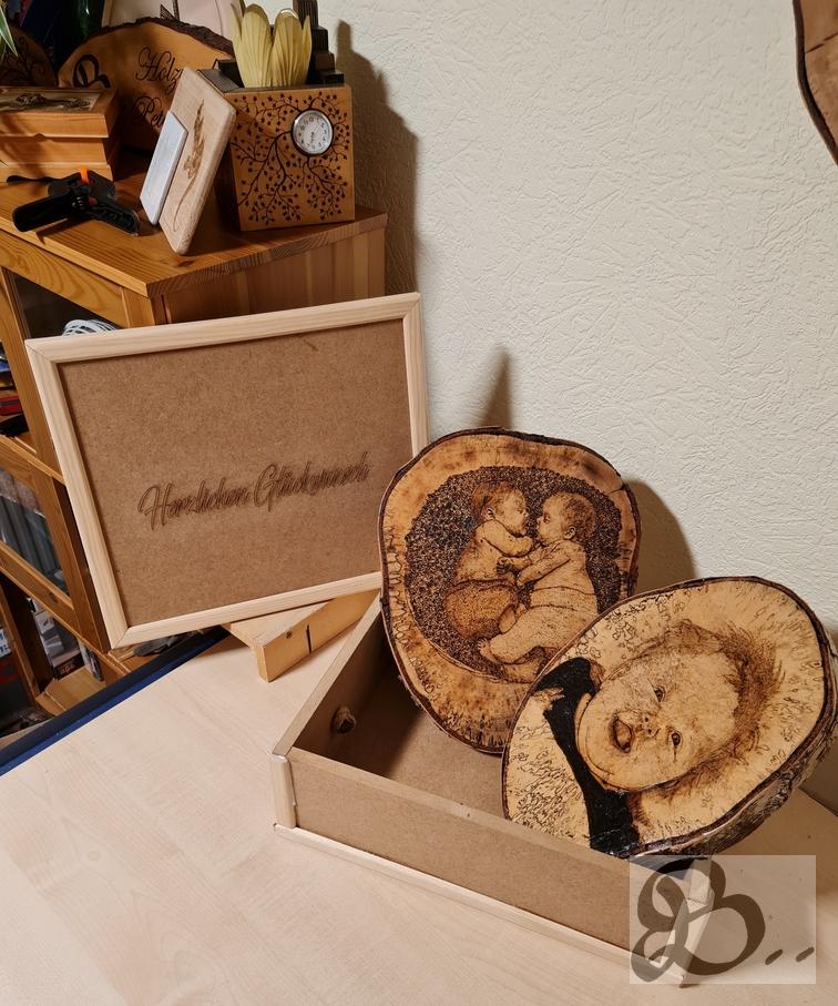 Geburtstagsbox aus Holz