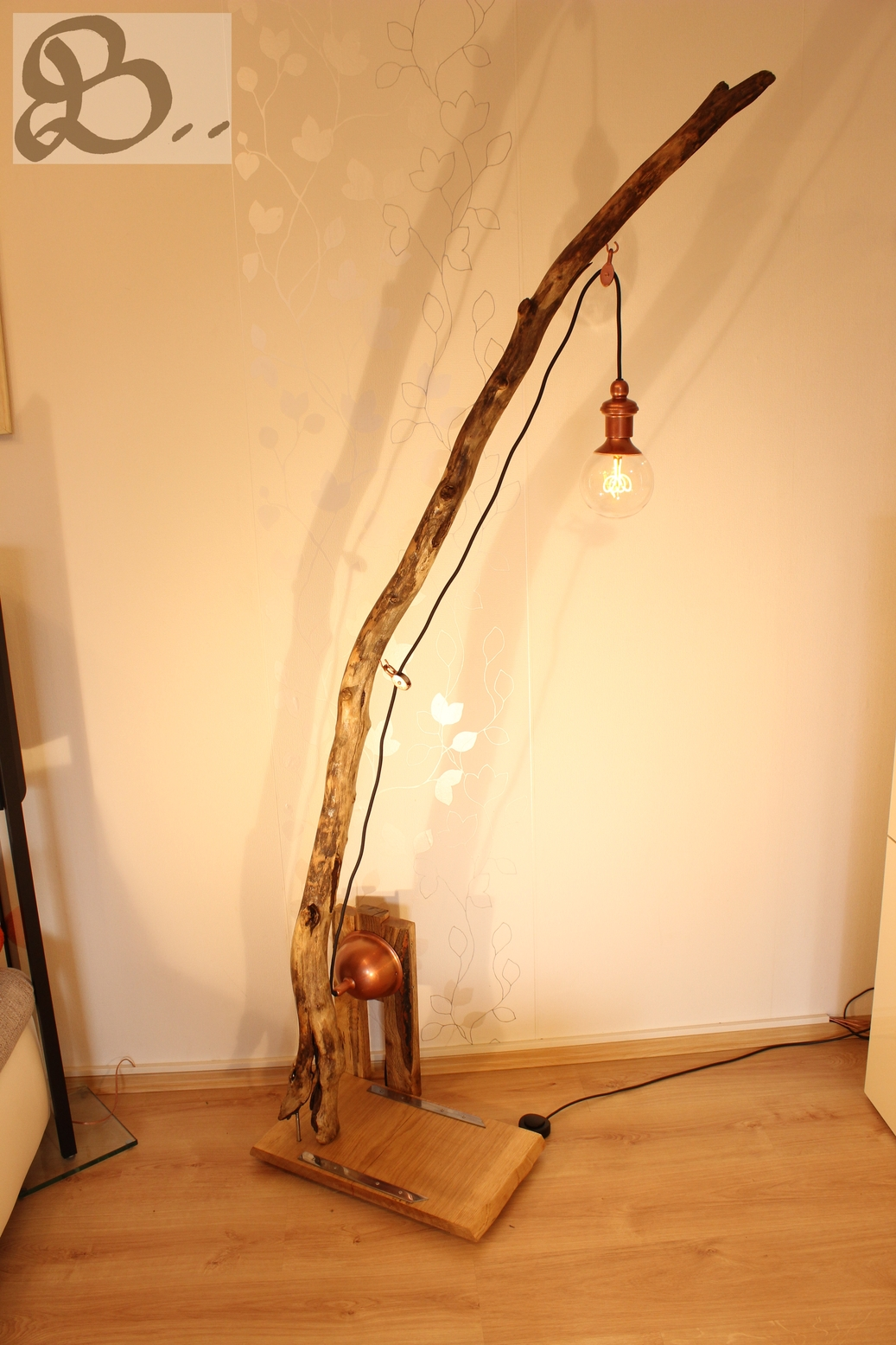 Blickfang Treibholzlampe