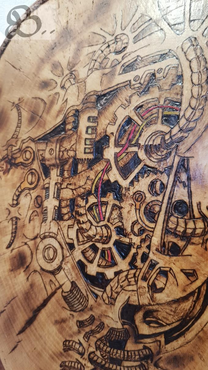 Brandbild im Steampunk-Stil (Detail)