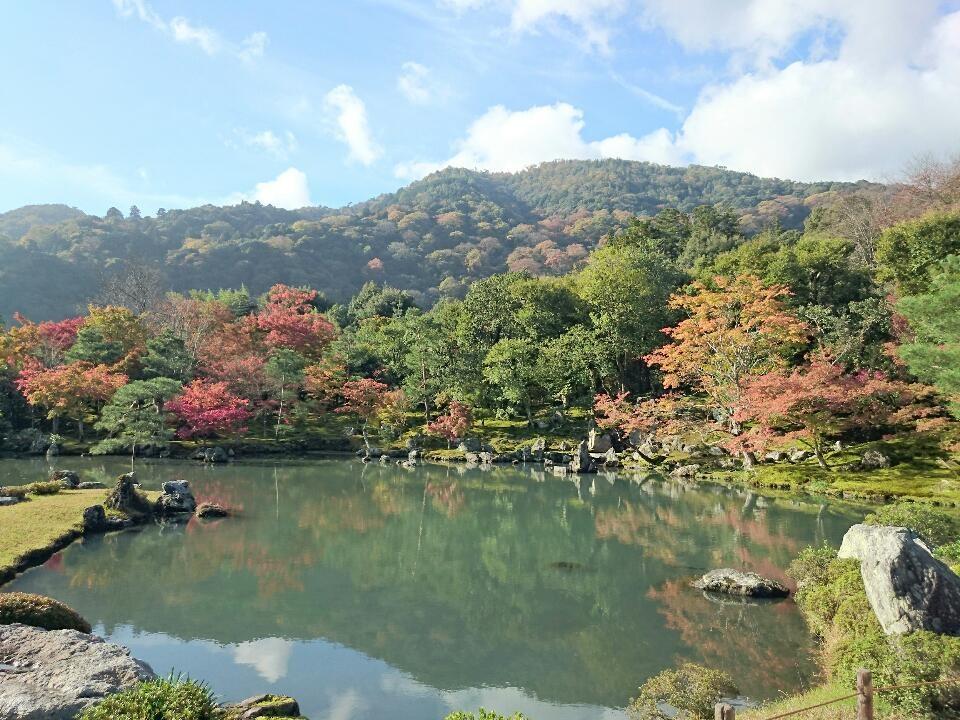 天龍寺  嵐山借景