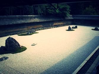 龍安寺 石庭 虎の子渡しの庭