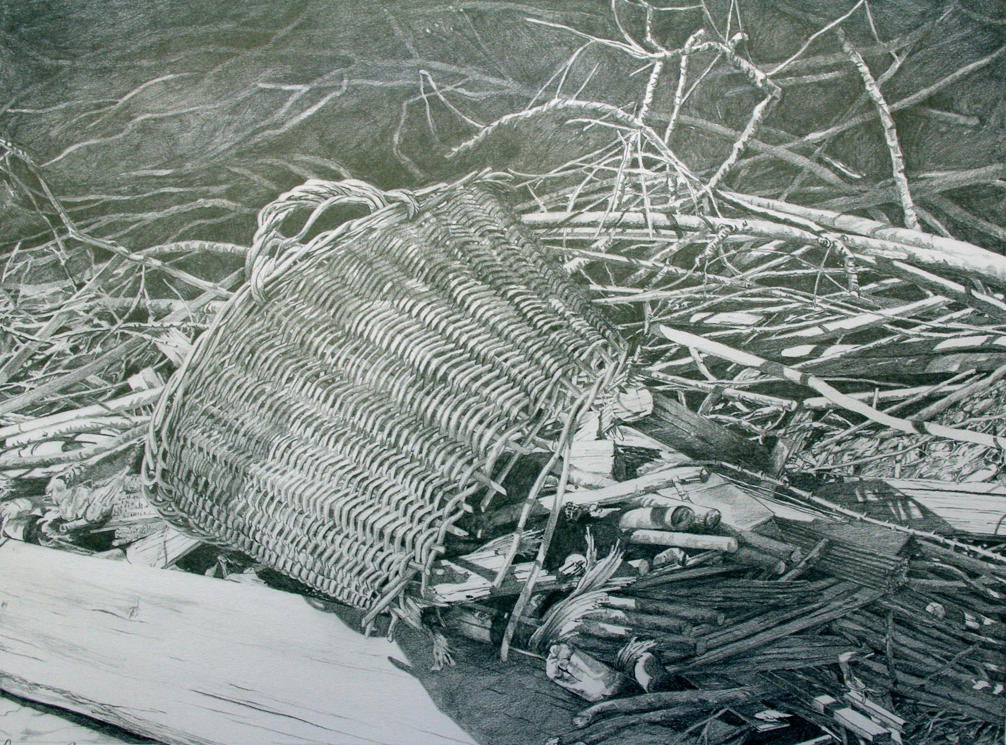 Reisigkorb / Bleistift / 40 x 50 cm