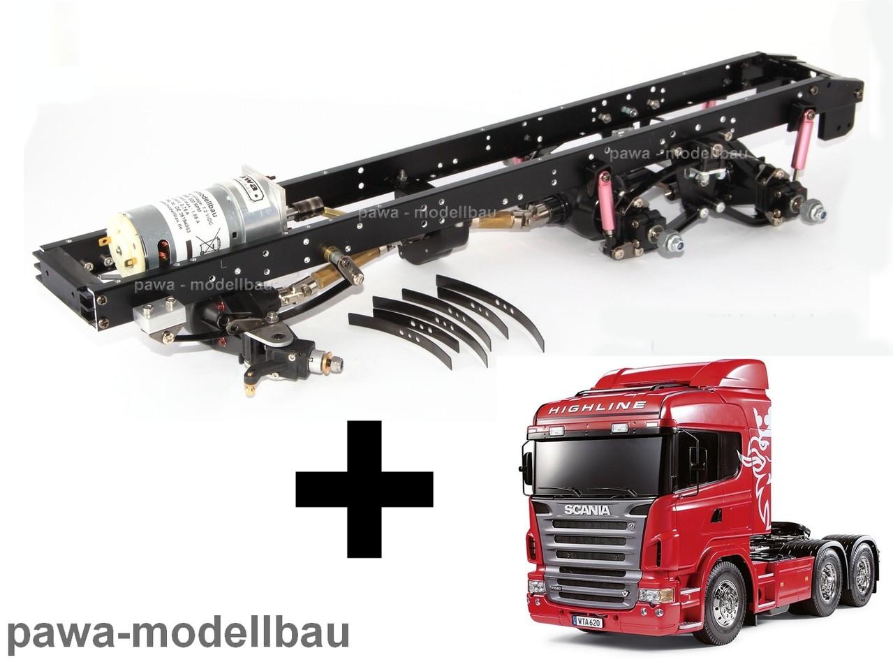 Tamiya SCANIA R620 6x6 mit umgebautem Fahrgestell - pawa-modellbau ...