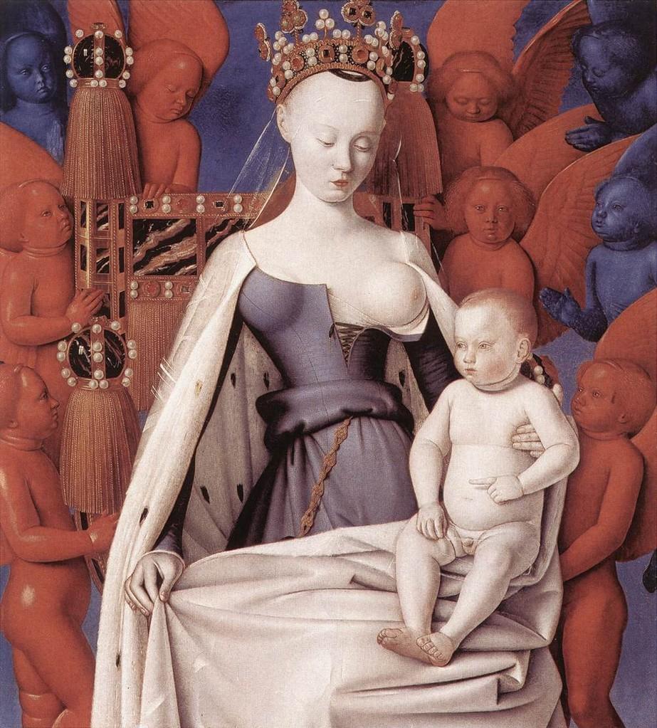 Vierge à l'enfant entourés d'angelots - format: 50,8 cm x 56,31cm Prix: 195 €