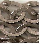 Code 4 section anneauxc plats rivet rond acier gris foncé