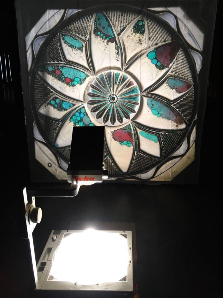 Lichtinstallation in der Kirche St. Michael