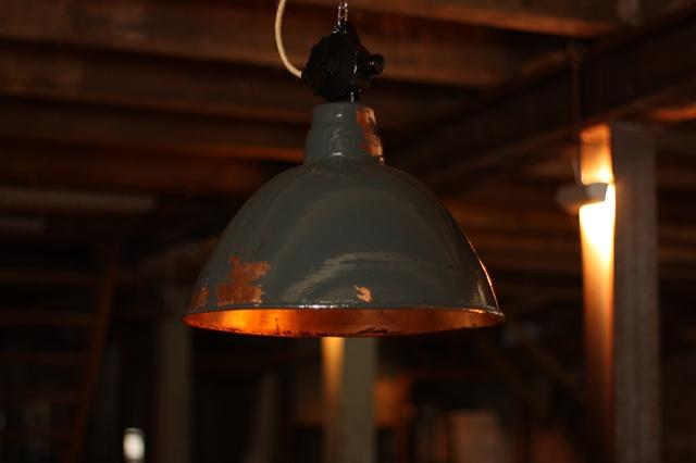Fabriklampen Unikate aus original alten Emaillelampen neu in Trendfarben und Vintagelook gestaltet