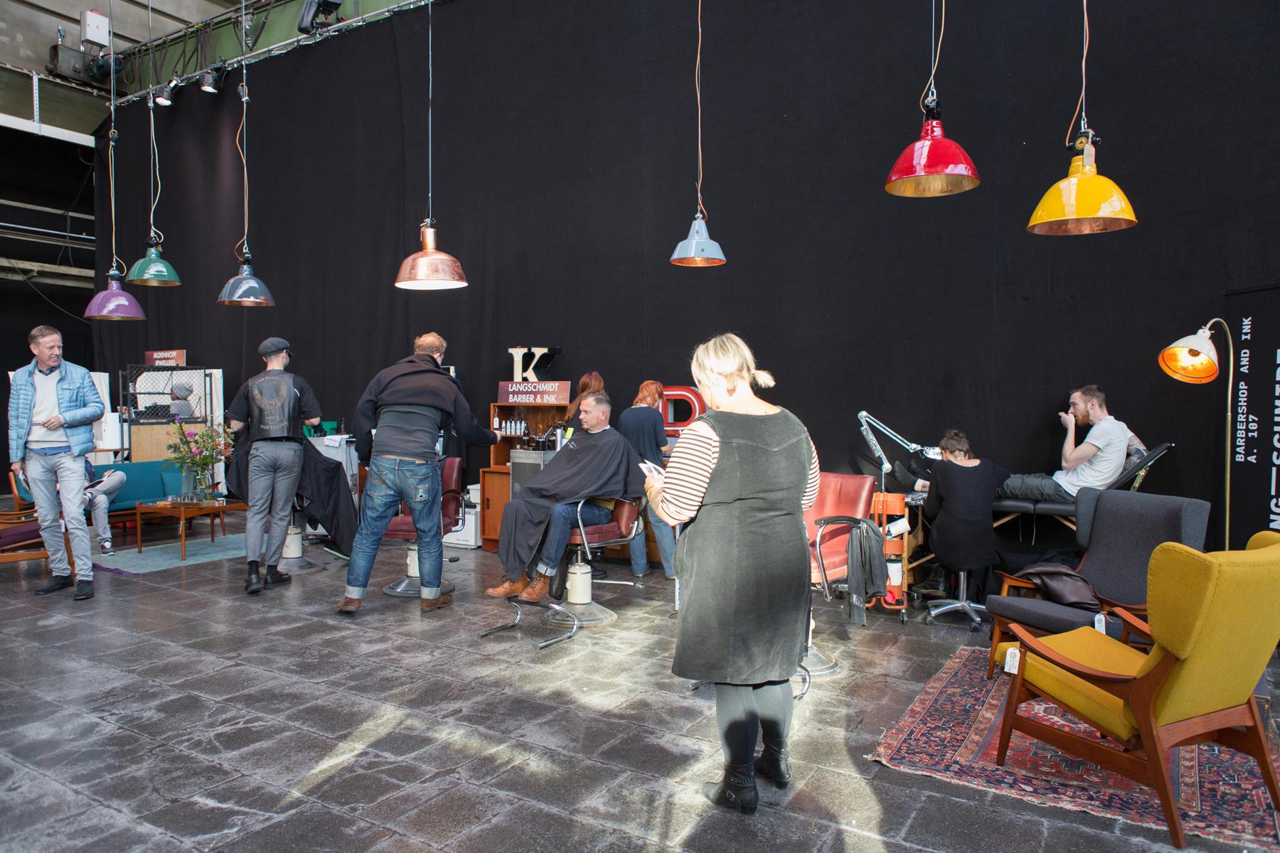 Ausstattung Barbershop, New Herritage, Messe für einzigartige Dinge, Düsseldorf 2018