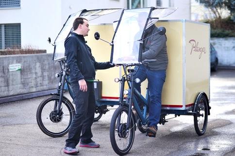Transport e-Bikes in der e-motion e-Bike Welt Dietikon