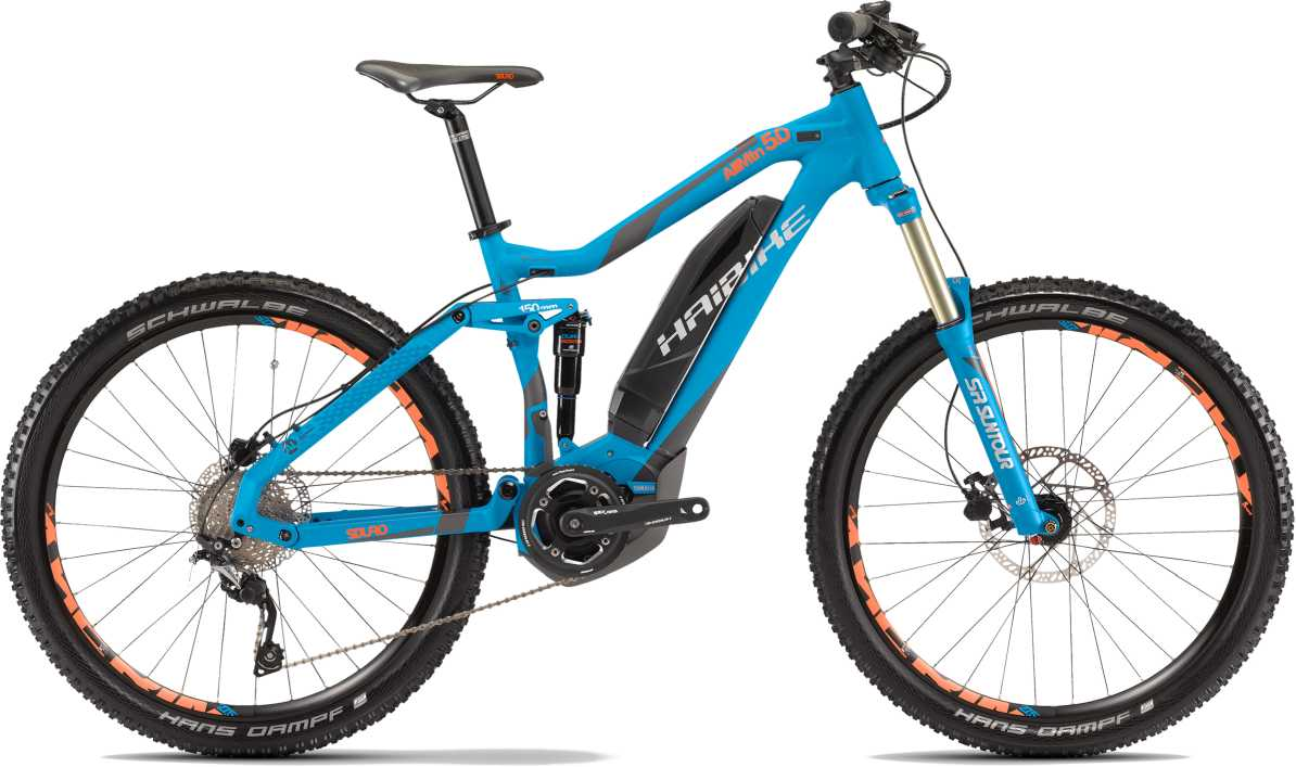 Haibike SDURO AllMountain 5.0 2017 blau/anthrazit/orange