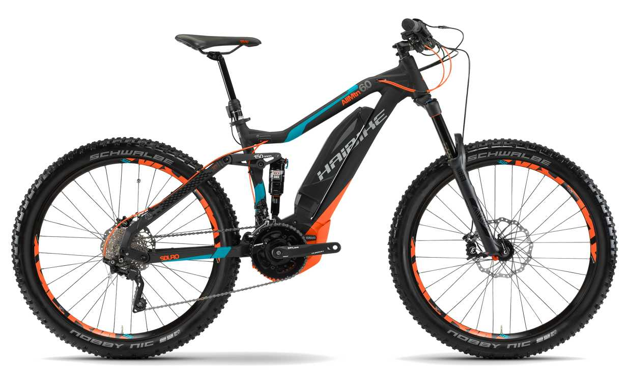 Haibike SDURO AllMountain 6.0 2017 schwarz/cyan/orange