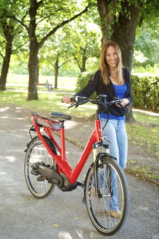 Ein e-Bike hat viele Vorteile - Ergonomie ist einer dieser Vorteile.