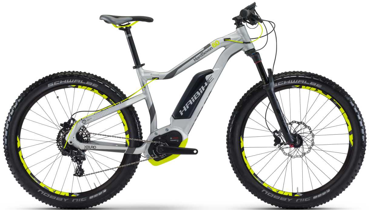 Haibike XDURO HardSeven 6.0 2017 silber/anthrazit/lime