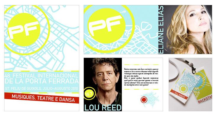 """Corporate Design für das Kulturfestival """"Internacional Festival de la Porta Ferrada"""", Spanien. Kurs: Corporate Design 2009,"""