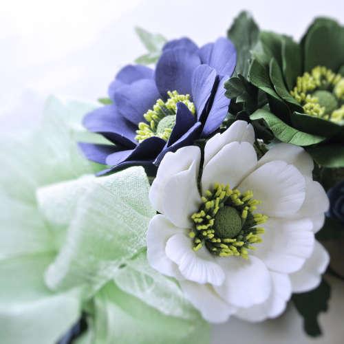 粘土のお花リースgreen2