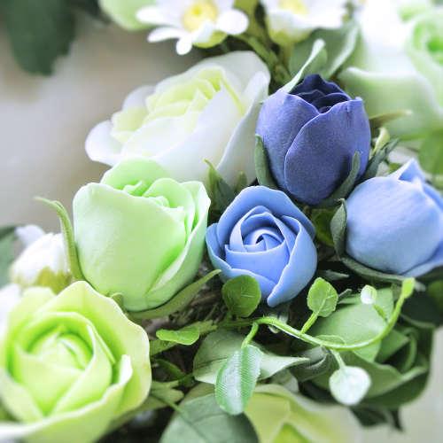 粘土のお花リースgreen4