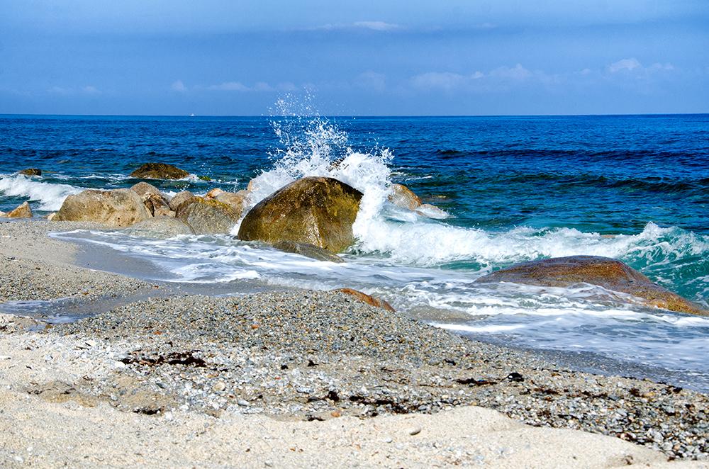 Fototapete Meer und Steine