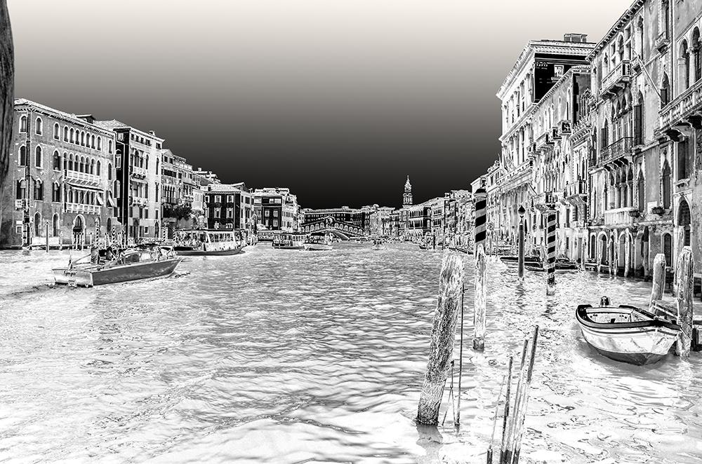 Venedig Schwarz Weiss