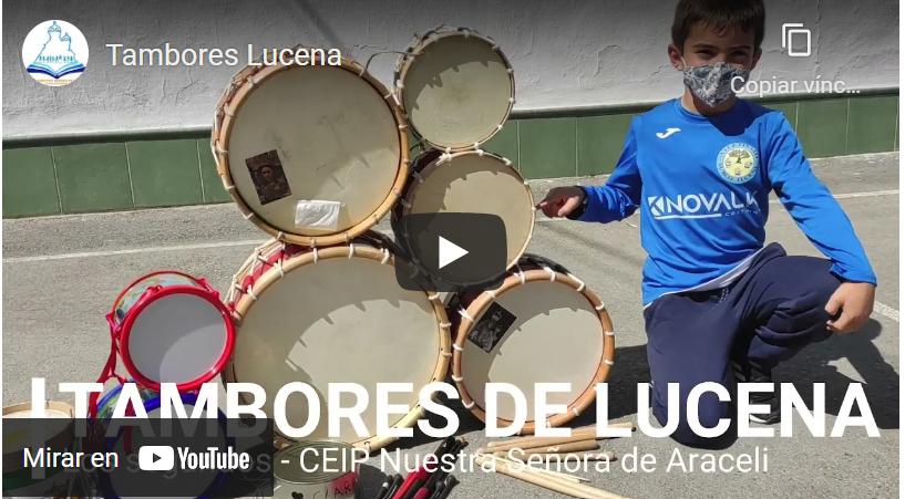 Tambores de Lucena, en el cole.