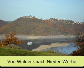 Wanderroute von Waldeck nach Niederwerbe