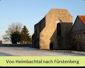 Wanderroute von Heimbachtal nach Fürstenberg