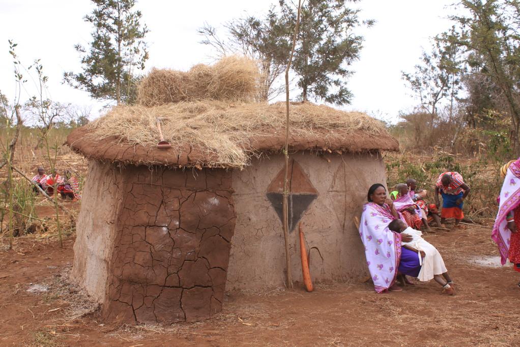 Ein traditionelles Dung-Haus