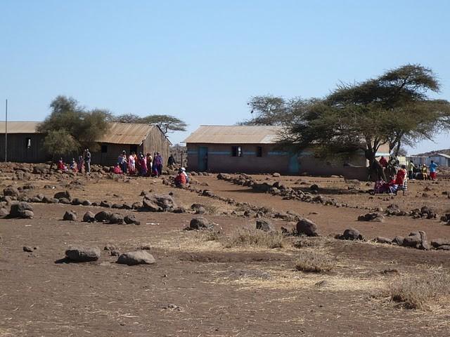 Das Schulareal der Kalesirwa Primary School