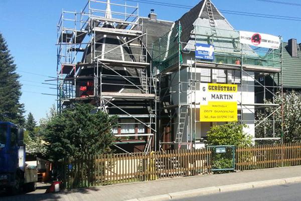Gerüstbau Martin in 09573 Augustusburg - Gerüst für ein neues Dach