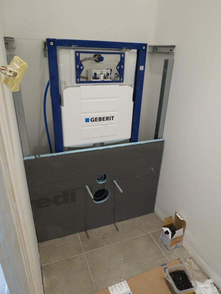 Quelques chantiers entreprise auliac plomberie - Pose d un wc suspendu ...