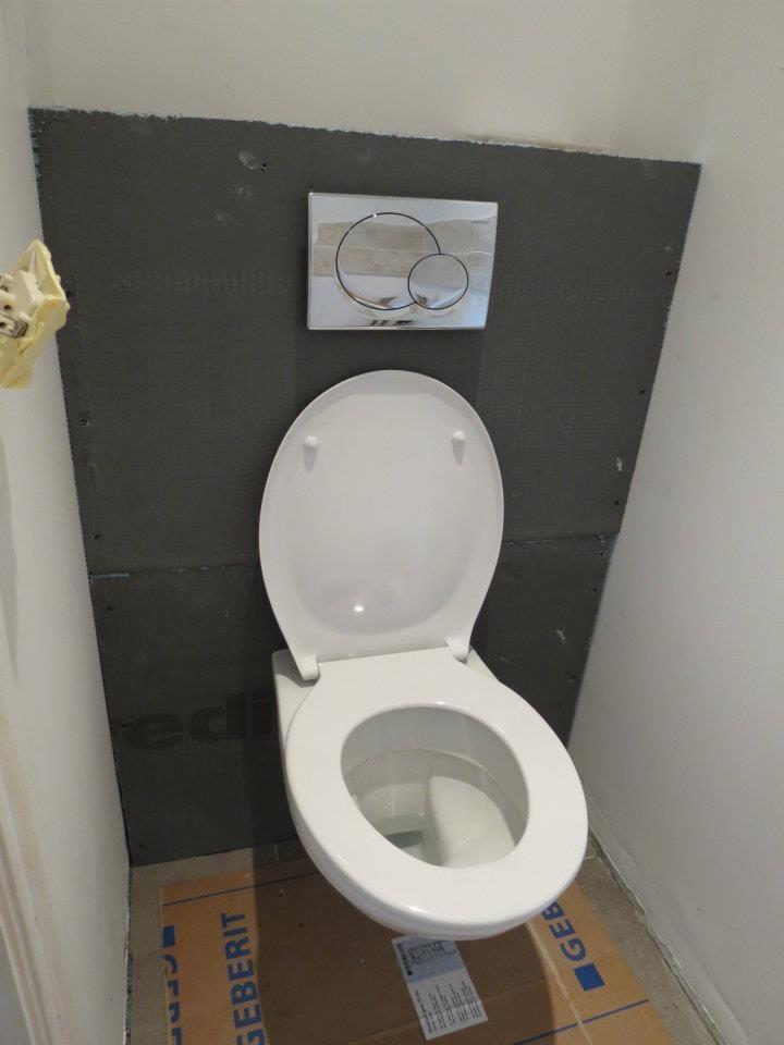 Quelques chantiers entreprise auliac plomberie for Meuble wc suspendu ikea