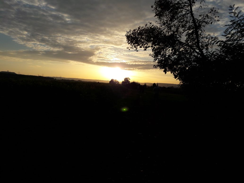 Nach einem wunderschönen Sonnenuntergang gab's noch eine kleine Pizza ;-)