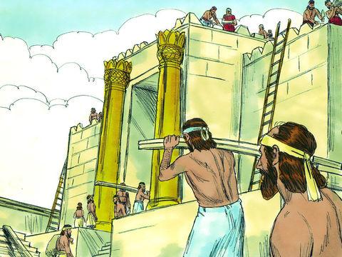 La construction du Temple de Jérusalem par le roi Salomon a duré 7 ans. Il a été réalisé avec ce qu'il y a de plus précieux et de plus pur. De grandes quantités d'or ont été utilisées.