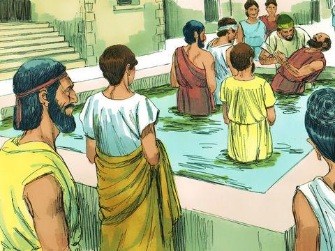 Par le baptême nous montrons à tous notre engagement d'une bonne conscience envers Dieu. Le passage de Colossiens 2 :11 parle de dépouiller le corps des péchés de la chair lors du baptême chrétien.