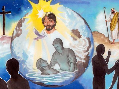 Après sa résurrection, Jésus reste encore 40 jours afin de donner les dernières instructions à ses disciples, faites des disciples des gens de toutes les nations