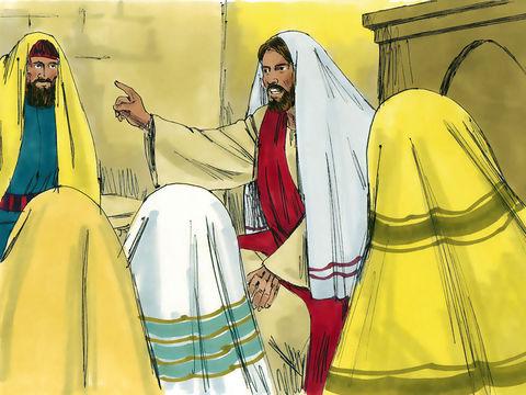 """Il y avait dans leur synagogue un homme qui avait un esprit (pneuma) impur. Il s'écria: Que nous veux-tu, Jésus de Nazareth? Es-tu venu pour nous perdre? Je sais qui tu es: le Saint de Dieu. Jésus le menaça en disant: """"Tais-toi et sors de cet homme!"""""""