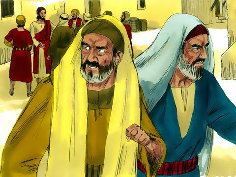Les pharisiens, jaloux de Jésus sont arrogants et insensibles. Ils cherchent à comploter pour se débarrasser de Jésus. L'orgueil est à l'origine de la jalousie de ces hommes qui ne recherchent que les honneurs et la gloire.